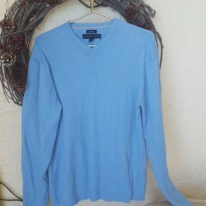 Men's blue sweater v neck